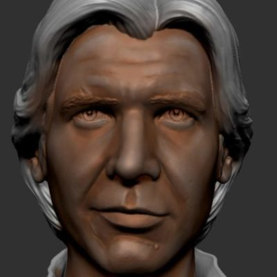 Peinture figurine le visage