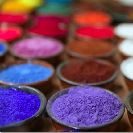 photo de pigments